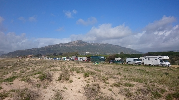 Playa de Los Lances aparcamiento para auto caravanas en Tarifa