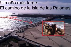 El camino de la isla de las Palomas, Tarifa