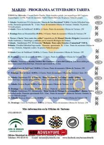 Programa de actividades marzo 2013