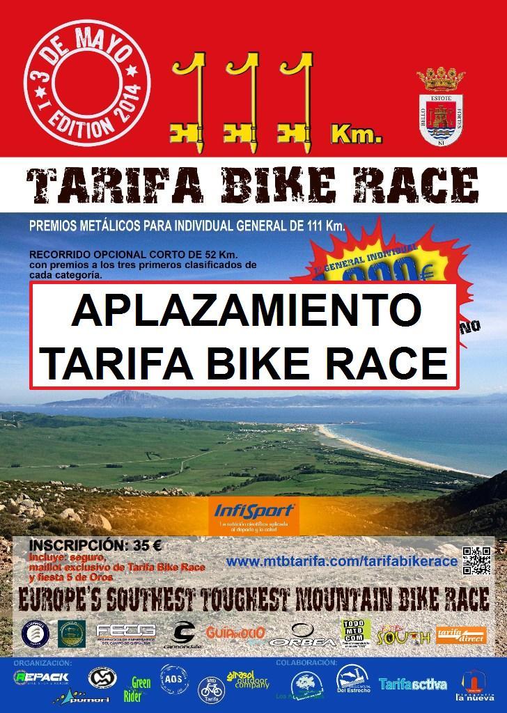 Aplazamiento Tarifa Bike Race