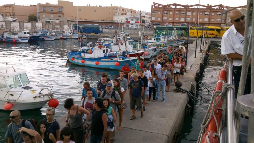 Un puerto que atrae a muchos turistas.