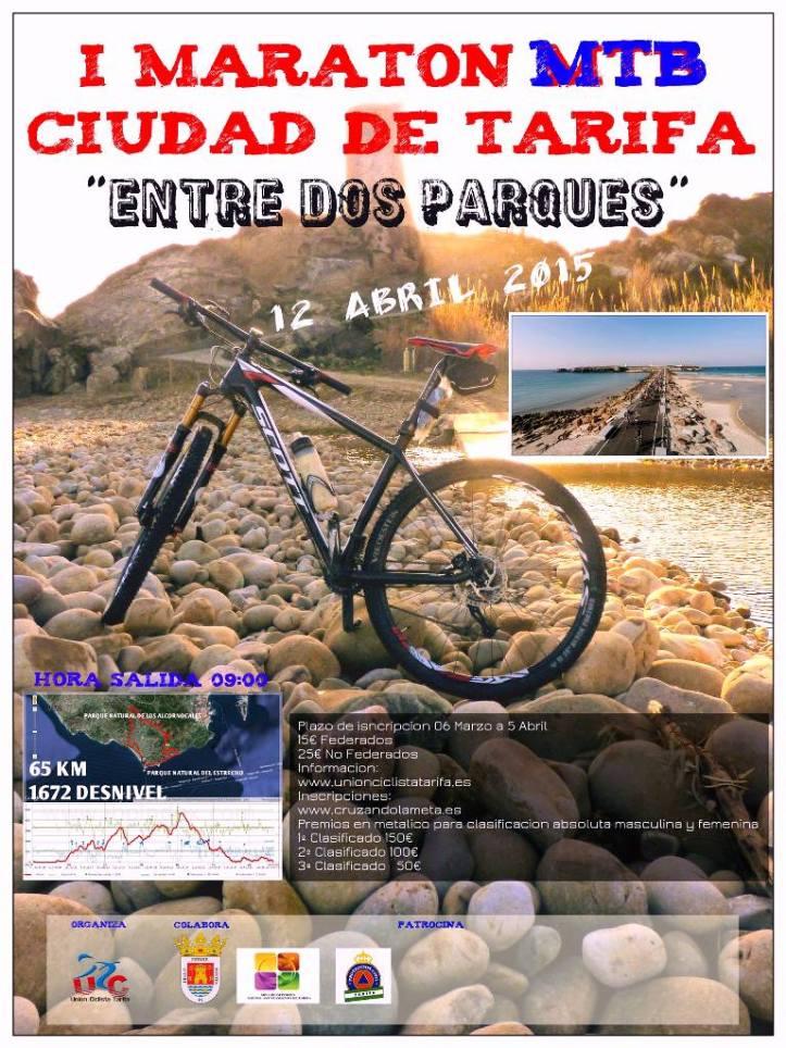 Cartel I Maratón Ciudad de Tarifa Entre 2 Parques