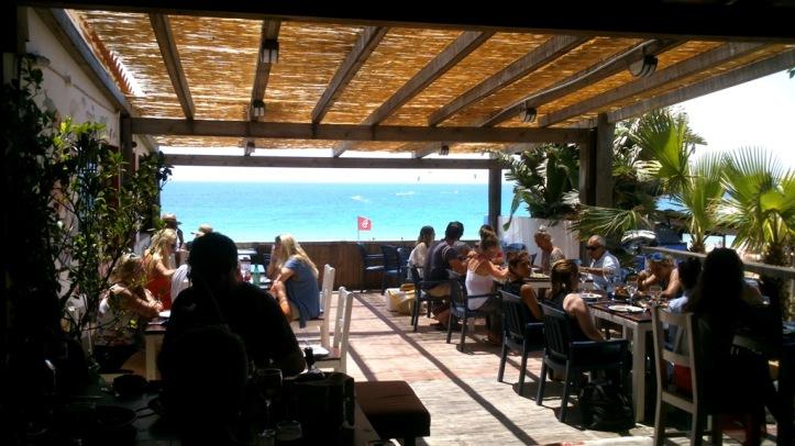 La terraza del restaurante Arte Vida