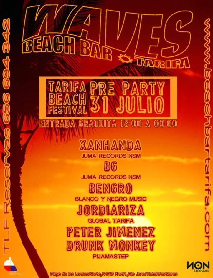 Beach Party Chiringuito Waves en Tarifa