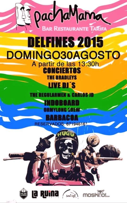Fiesta de Clausura de la concentración de motos DELFINES 2015 TARIFA en Pachamama