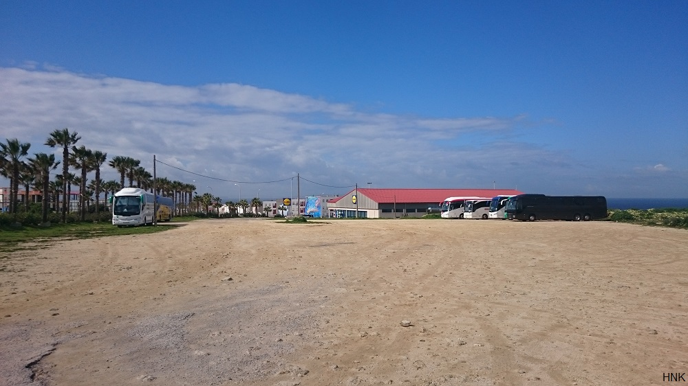 Aparcamiento para autobuses en Tarifa