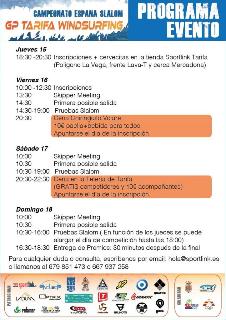 Programa GP Tarifa Windsurfing