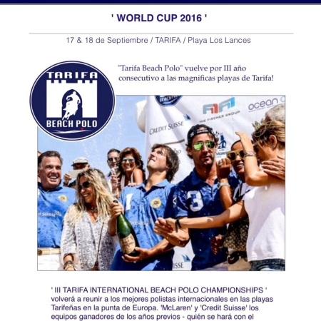 Tarifa International Beach Polo Championship en Tarifa