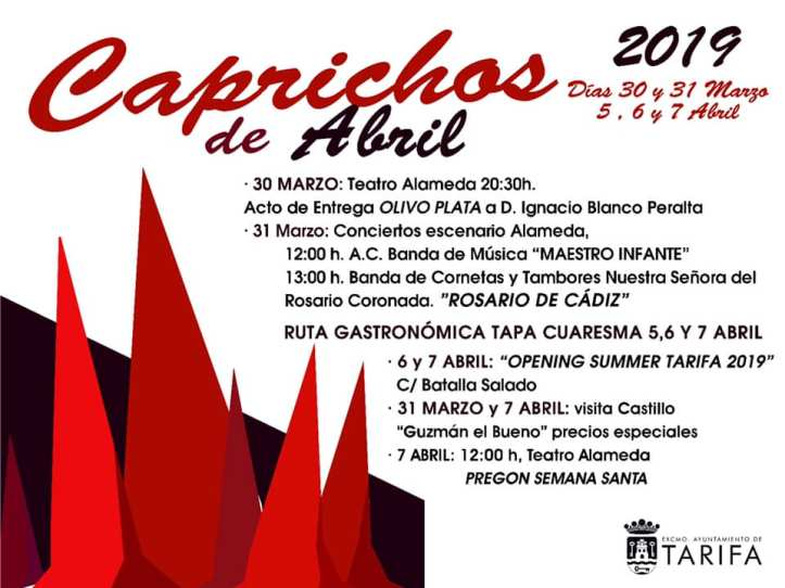 CAPRICHOS de Abril 2019 Tarifa