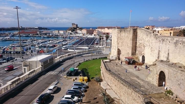 Castillo Guzman el Bueno y el Puerto de Tarifa