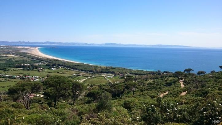Playa de Los Lances, Océano Atlántico y Africa