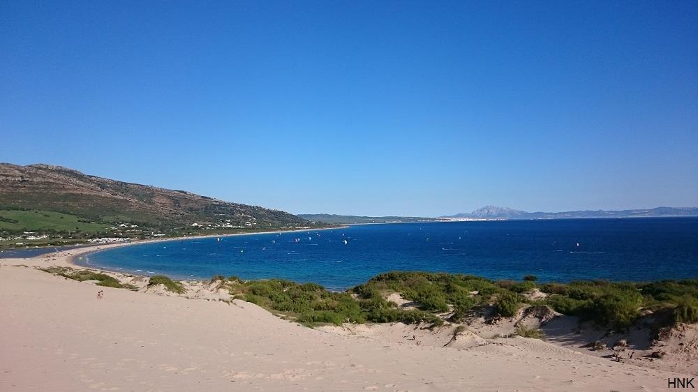 Playa de Valdevaqueros y las dunas de Punta Paloma