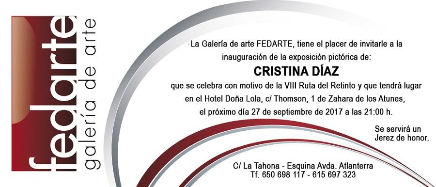 Invitación exposición de Cristina Díaz