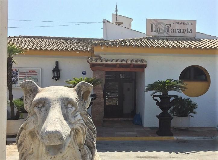 Restaurant La Taranta en Zahara de los Atunes, Bahía de la plata
