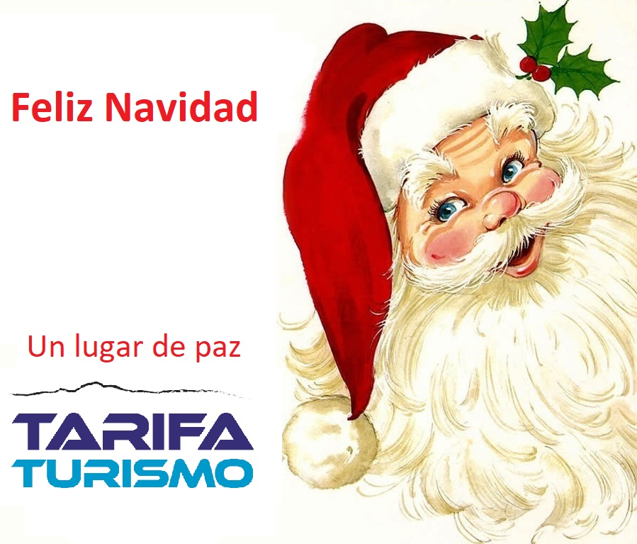 Te deseamos feliz navidad. Un lugar de paz. Tarifa Turismo