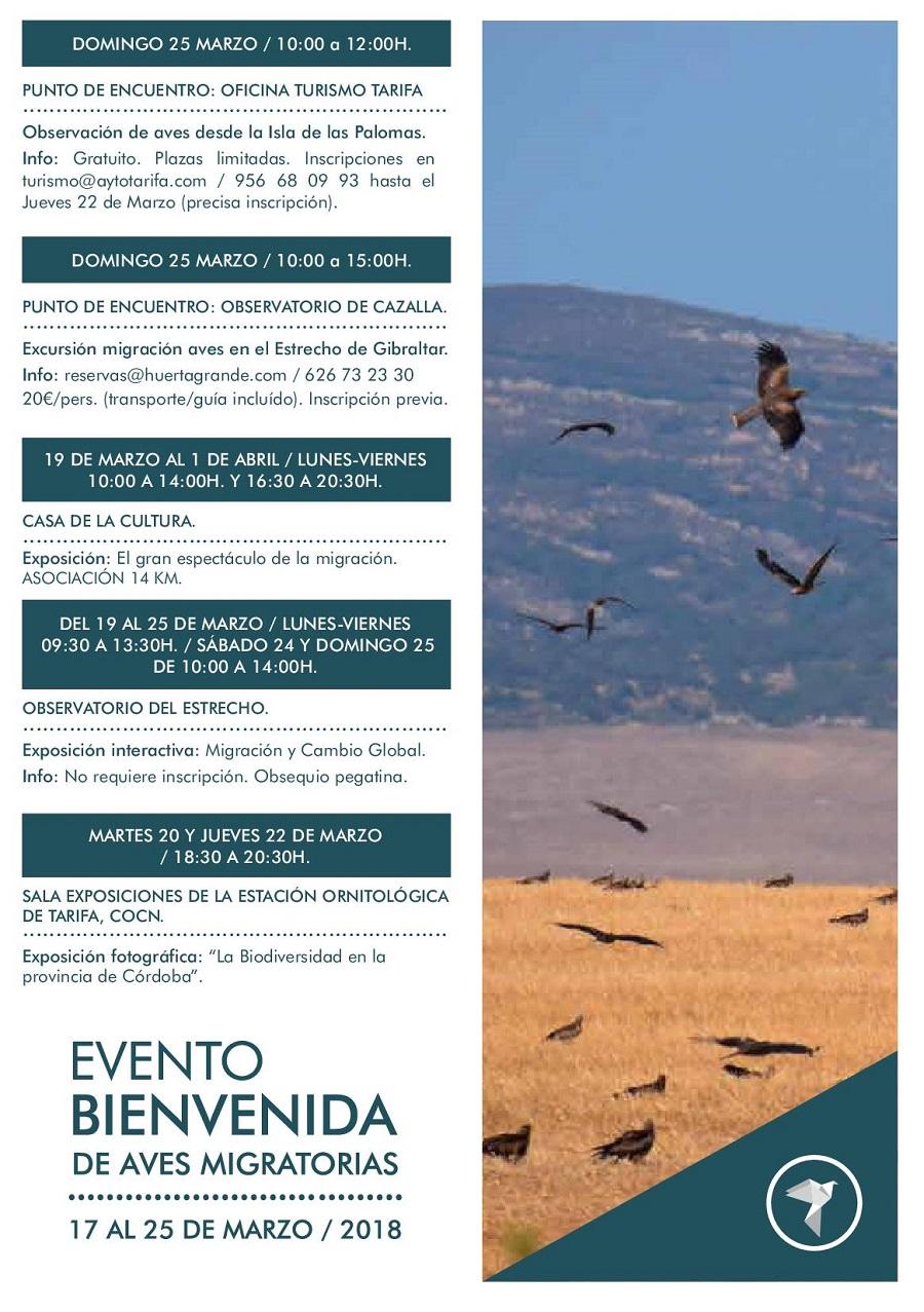 Programa Mig Bird Tarifa 2018
