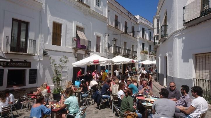 Calle Guzmán el bueno en Tarifa