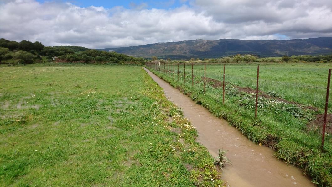Guiar la agua a zonas que necesitan agua