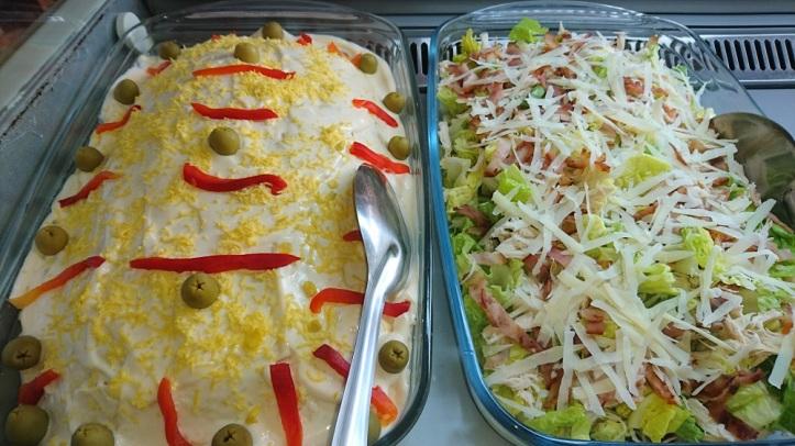 Variedad de ensaladas