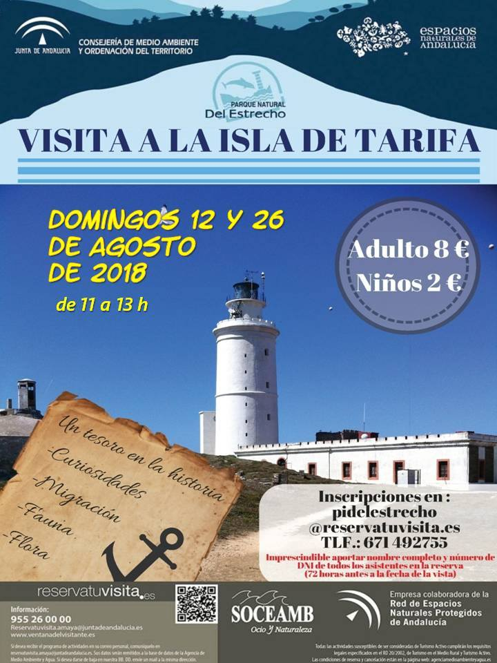 Visita a la isla de las palomas, Tarifa
