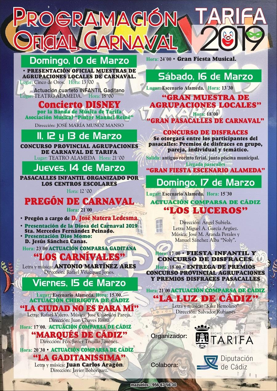 Programa Carnaval Tarifa 2019