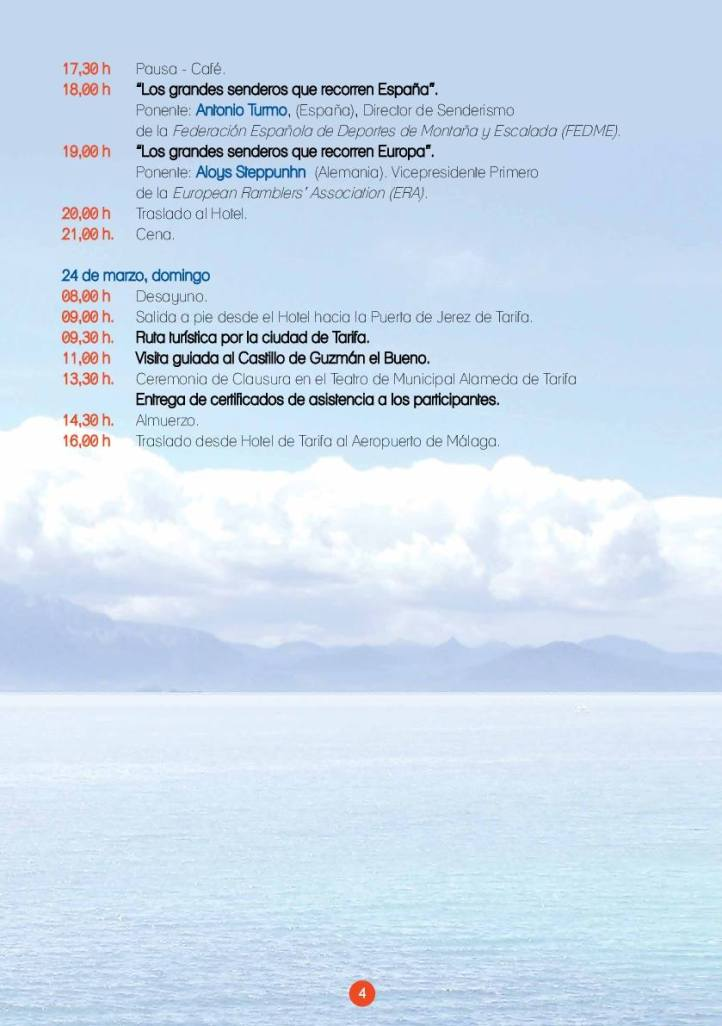 Encuentro Senderos Europeos Tarifa Marzo 2019