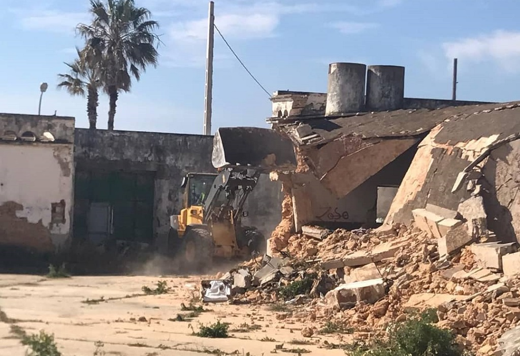 Abril 2019, Comienza de obras del nuevo gran hotel en Barbate