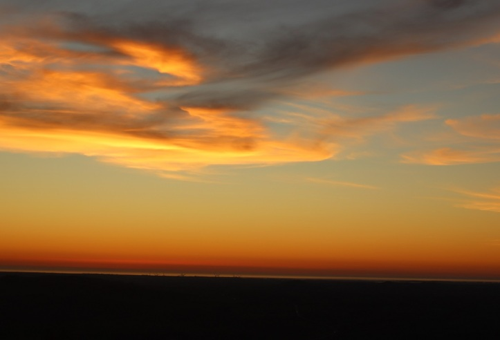 La puesta del Sol de Medina sidona, todo un espectaculo de colores HNK
