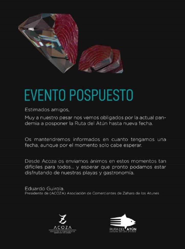 ruta del atun zahara 2020 evento pospuesto