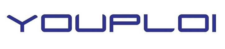 YOUPLOI LOGO IN ROYAL BLUE